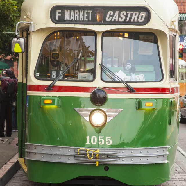 """San Francisco Streetcar"" stock image"