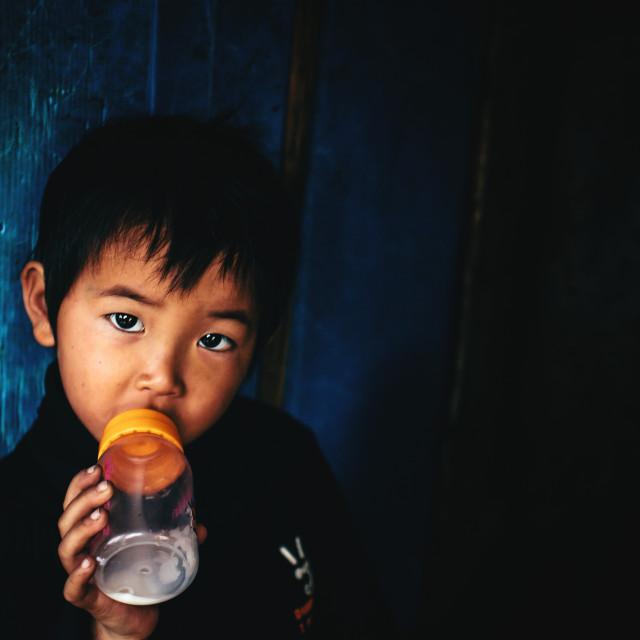 """Vietnamese child"" stock image"