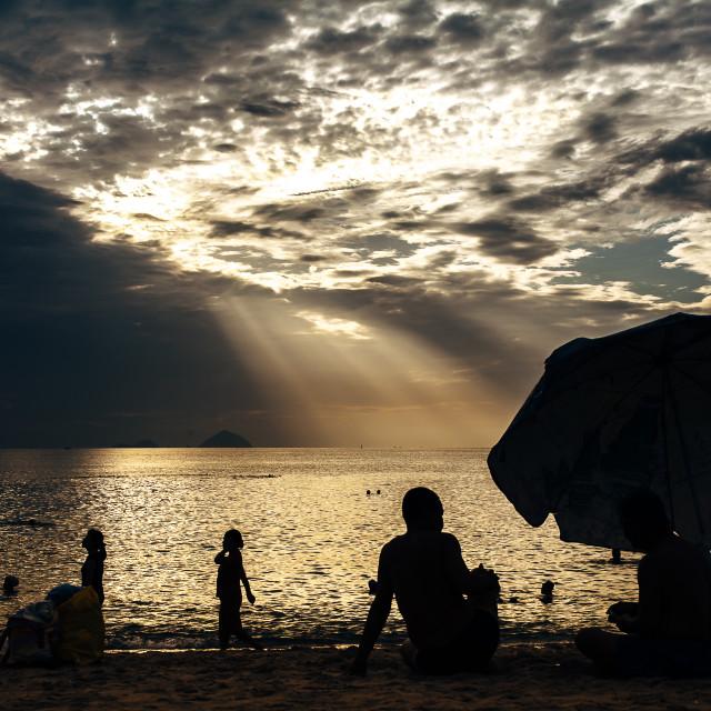 """Morning in Nha Trang beach"" stock image"