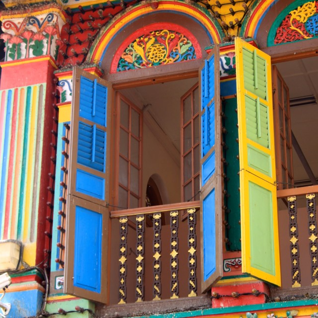 """Little India Window"" stock image"