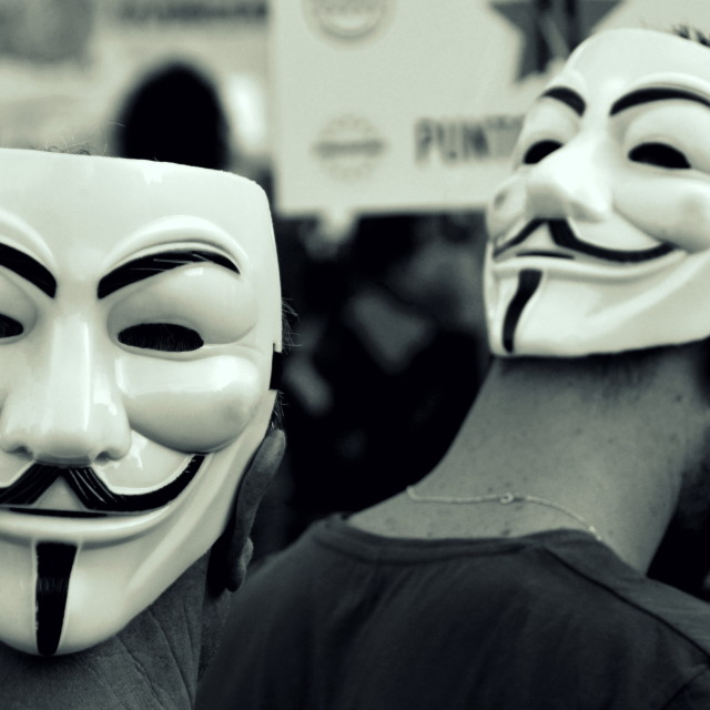 """Anonymous Masks"" stock image"