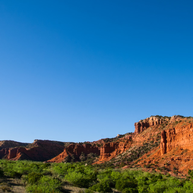 """""""Caprock Canyon under a clear blue sky"""" stock image"""