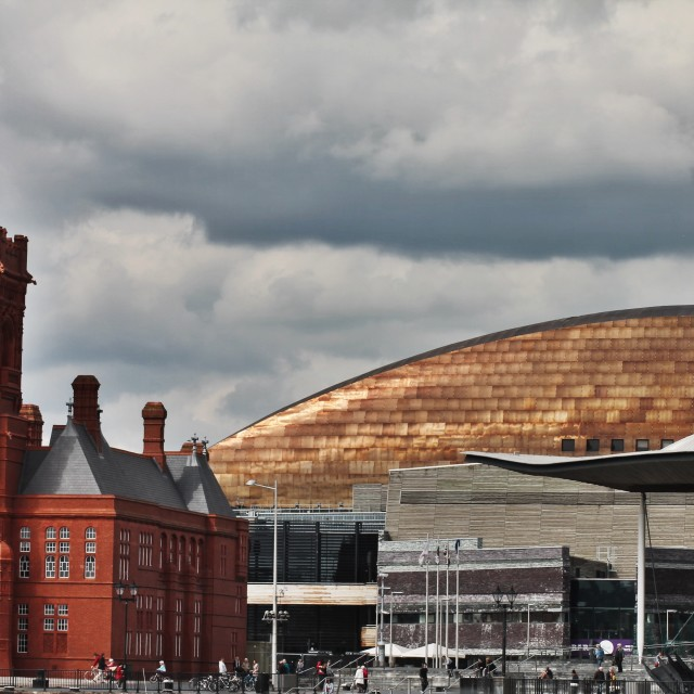 """Cardiff Bay"" stock image"