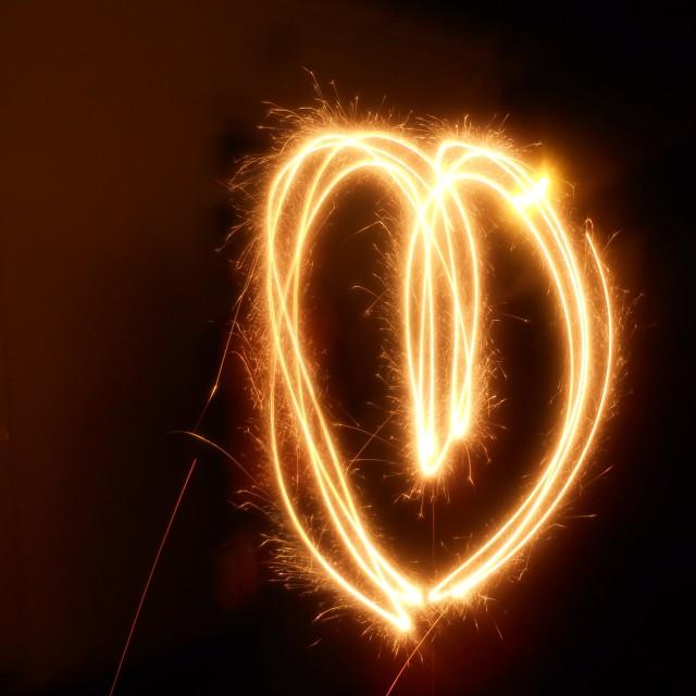 """""""Sparkler Heart"""" stock image"""