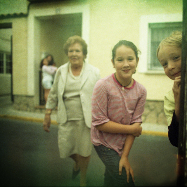 """Children happy in street portrait photojournalism"" stock image"