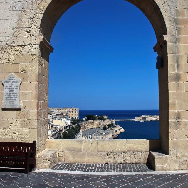 """Valletta harbour"" stock image"