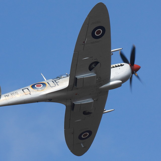 """Supermarine Spitfire at air show"" stock image"