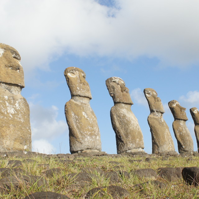 """Easter Island statues"" stock image"