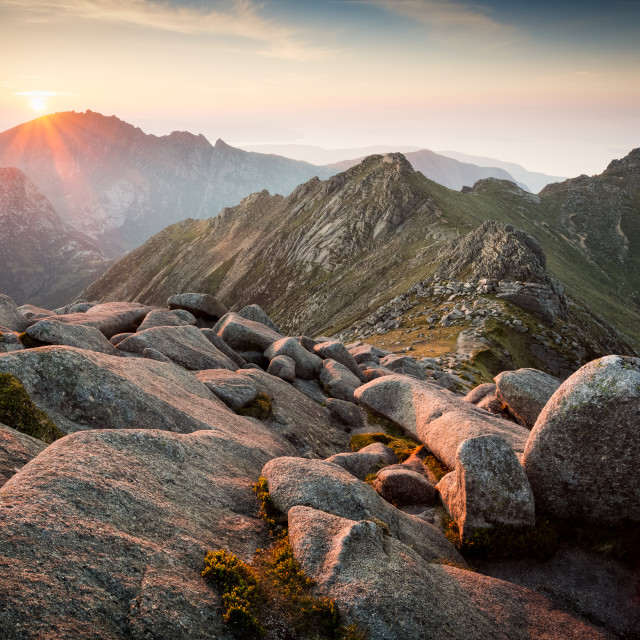 """Sunset From Goat Fell, Isle of Arran"" stock image"