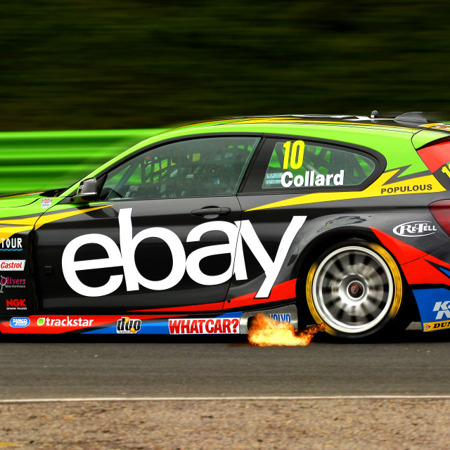 """British Touring Car motor racing"" stock image"