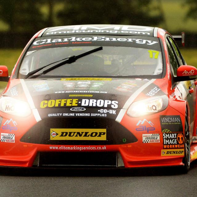"""Motor Racing, British Touring Car Ford"" stock image"