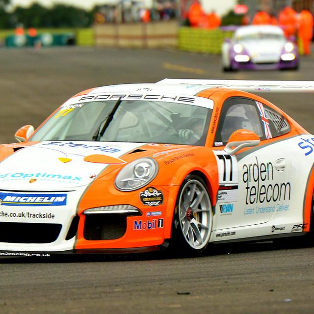 """""""Motor Racing Porsche GT Carrera"""" stock image"""