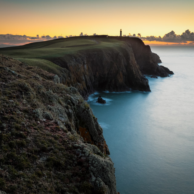 """Mull of Galloway Dawn"" stock image"