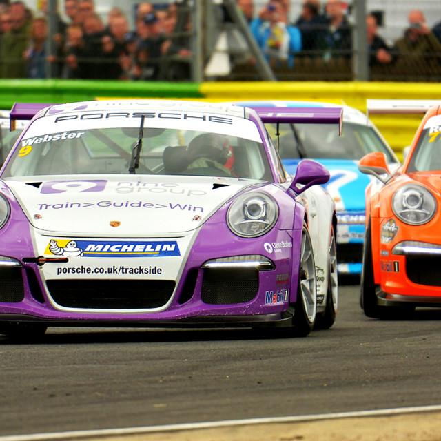 """""""Motor Racing, Porsche Carrera"""" stock image"""