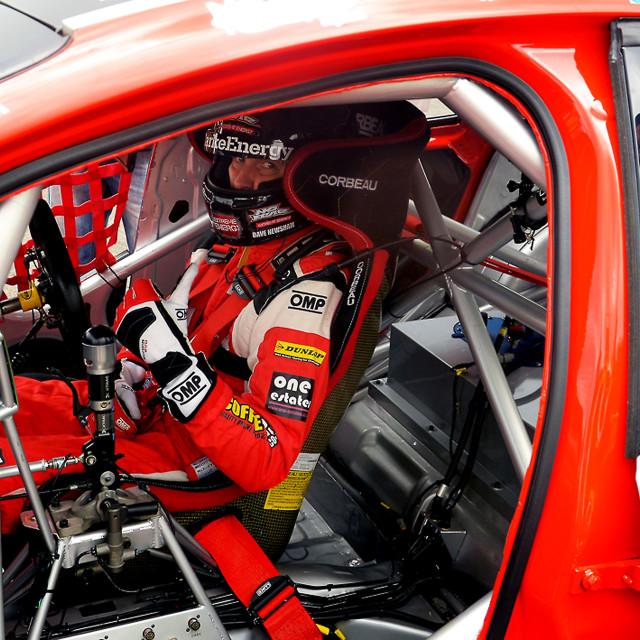"""Motor Racing Driver Dave Newsham"" stock image"