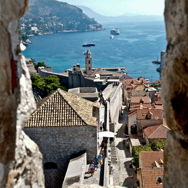 """Dubrovnik, beyond the harbour"" stock image"