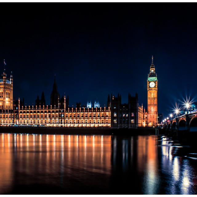 """Westminster by Night"" stock image"