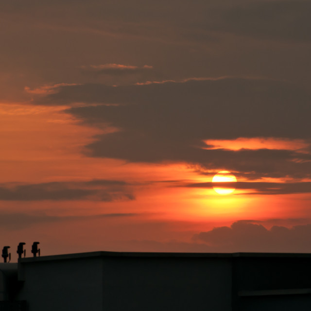 """Abstract sunset figures"" stock image"