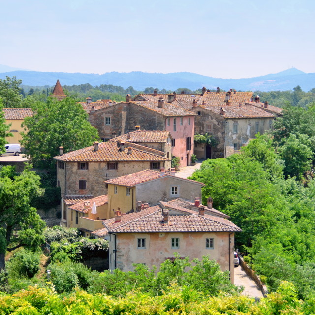 """Old Tuscan Village"" stock image"