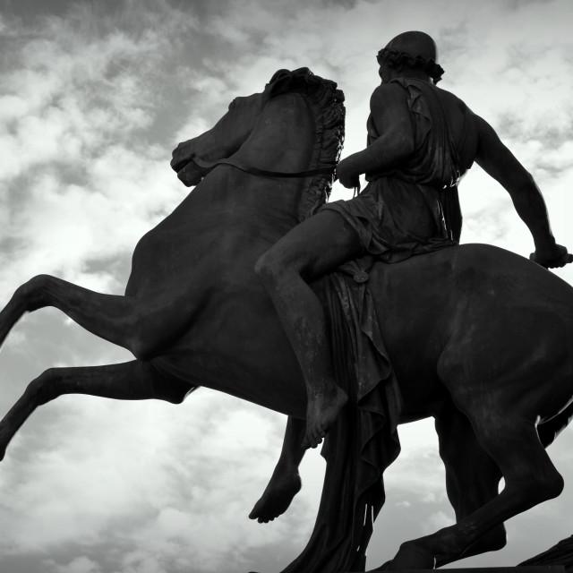 """""""Turin - Equestrian Statue"""" stock image"""