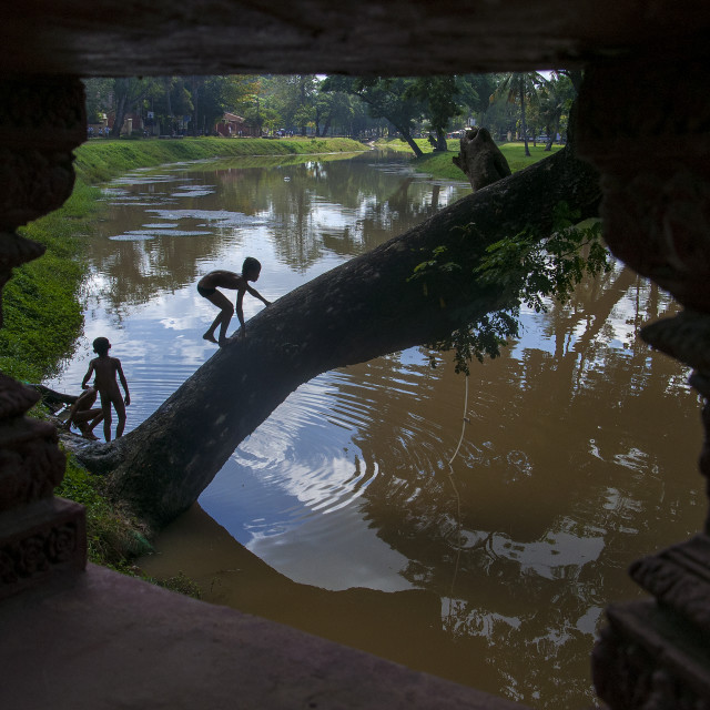 """Siem Reap River, Cambodia"" stock image"