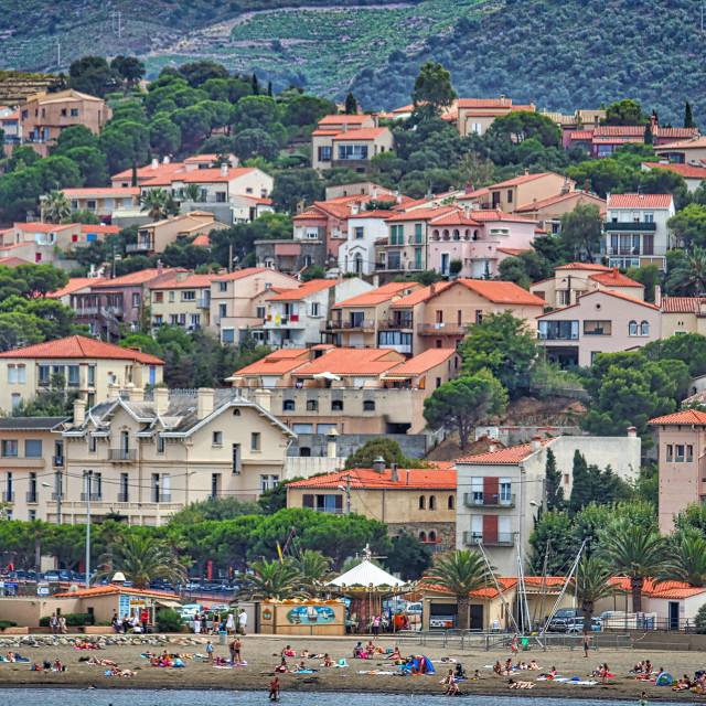 """""""Southern French seaside village"""" stock image"""