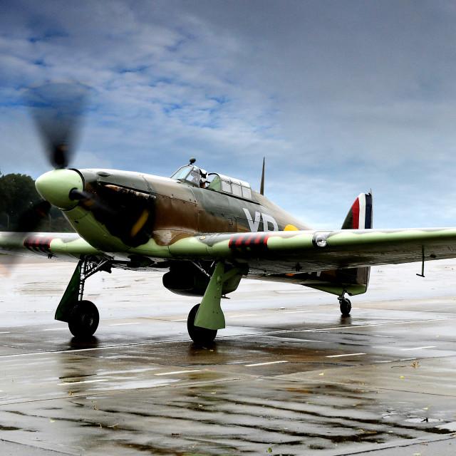 """Battle of Britain Hawker Hurricane"" stock image"
