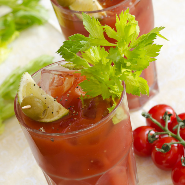 """Bloody Mary"" stock image"