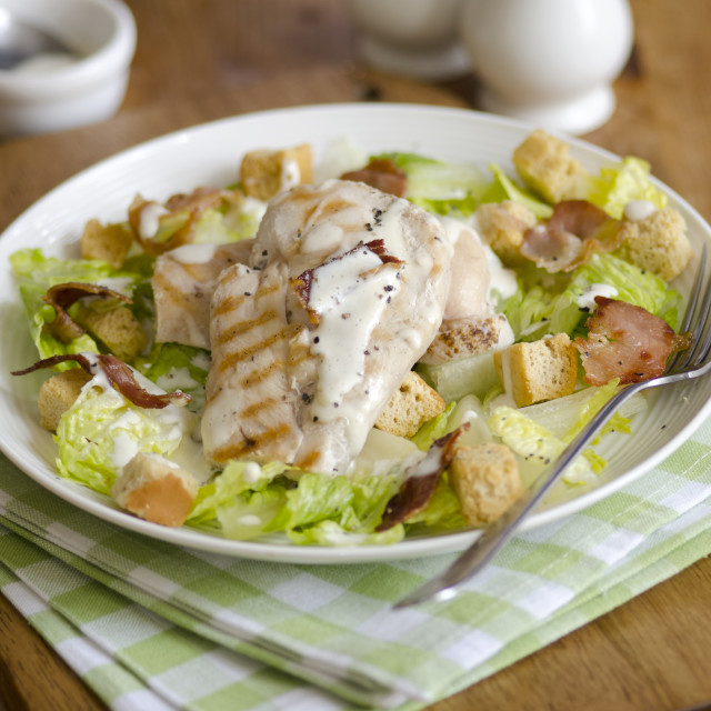 """Chicken Caesar salad"" stock image"