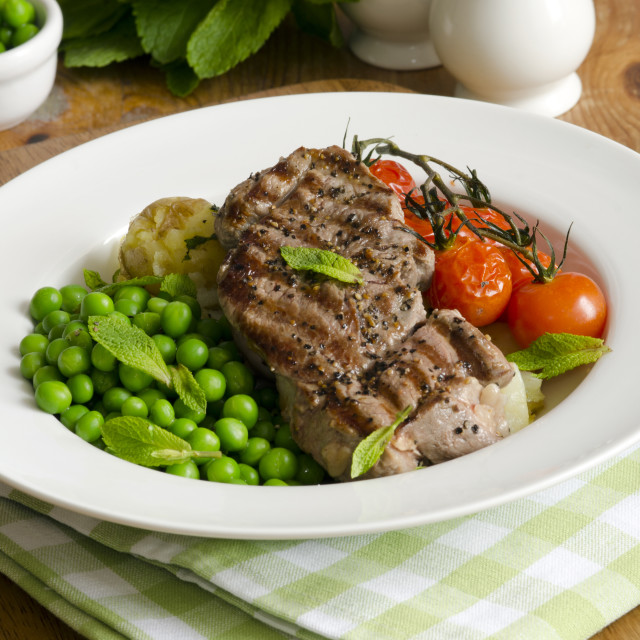 """Lamb steaks"" stock image"