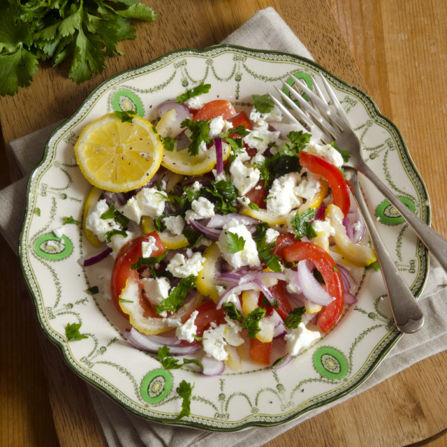 """Greek salad"" stock image"