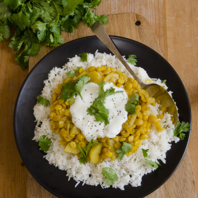 """""""Potato and lentil curry"""" stock image"""