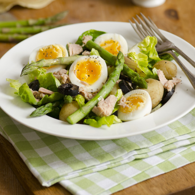 """Asparagus and tuna salad"" stock image"