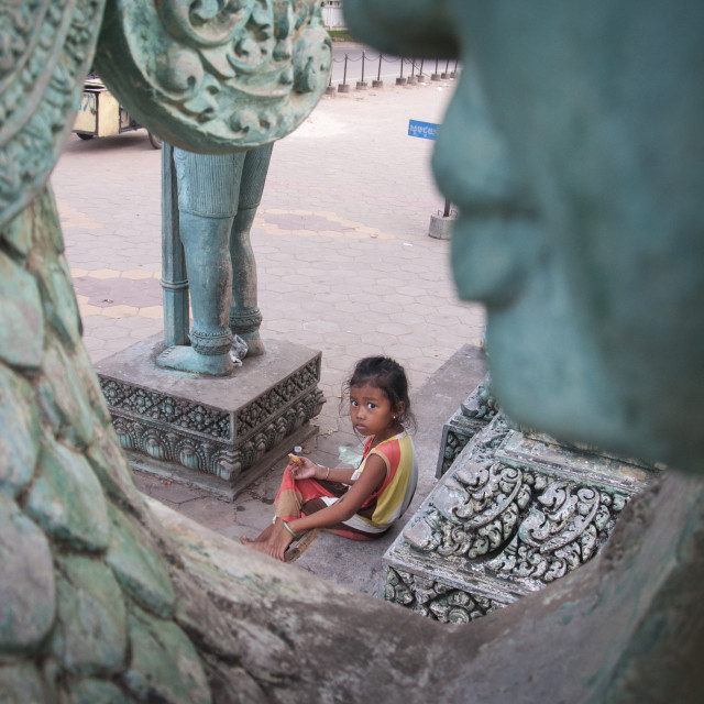 """Cambodian child."" stock image"