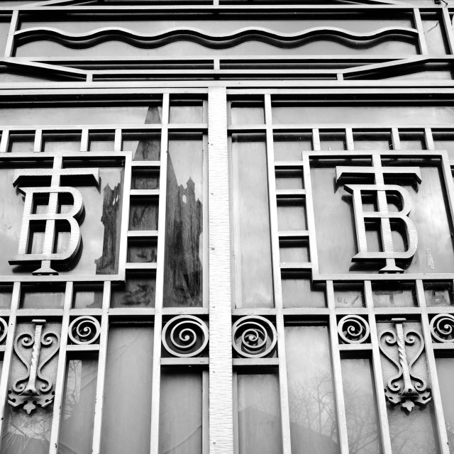 """Bourse du Travail Labour Exchange Bldg Toulouse B&W"" stock image"