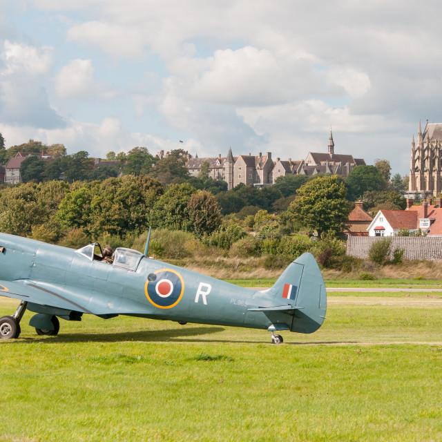 """Supermarine Spitfire PR Mk9"" stock image"