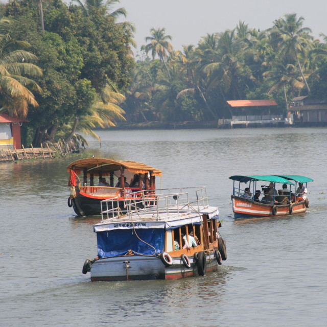 """Rush hour of Kerala"" stock image"