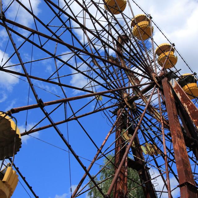 """Abandoned Ferris Wheel, Extreme Tourism in Chernobyl"" stock image"