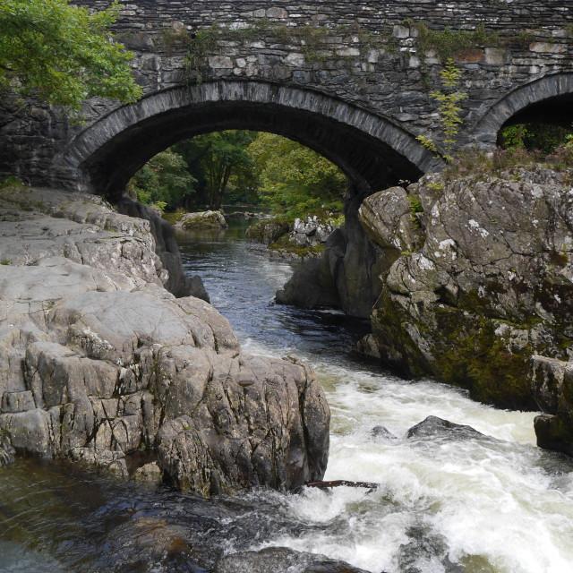 """Welsh Bridge"" stock image"