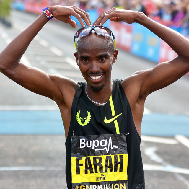"""Mo Farah"" stock image"