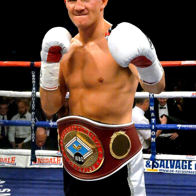 """WBO Champion Bradley Saunders"" stock image"