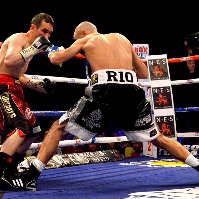 """Stuart Hall IBF Title fight"" stock image"
