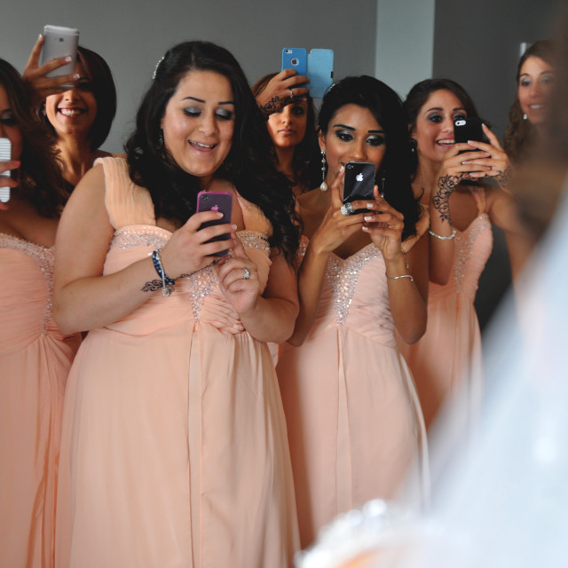 """BRIDESMAIDS."" stock image"