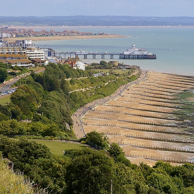 """""""Eastbourne Seafront"""" stock image"""