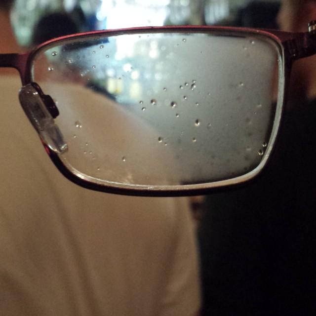 """Steamed glasses"" stock image"