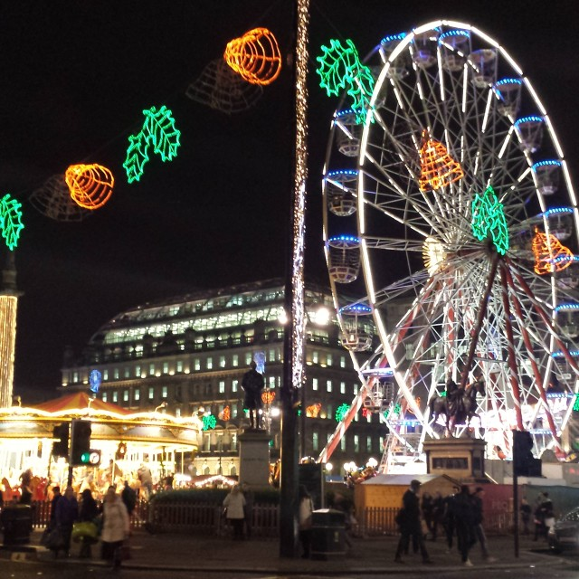 """Christmas at George Square"" stock image"