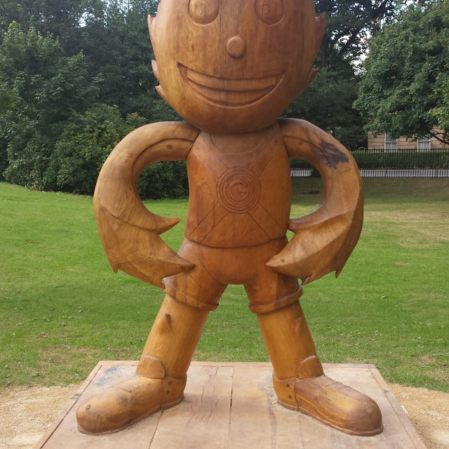 """Wooden Clyde"" stock image"