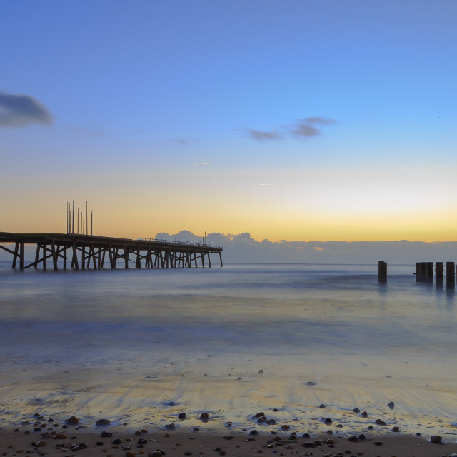 """Claremont Pier at Dawn"" stock image"
