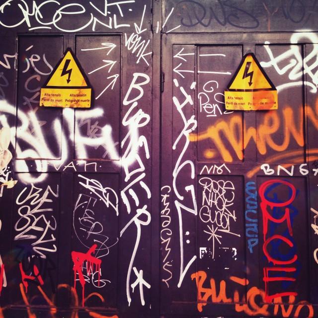 """Graffiti now!"" stock image"