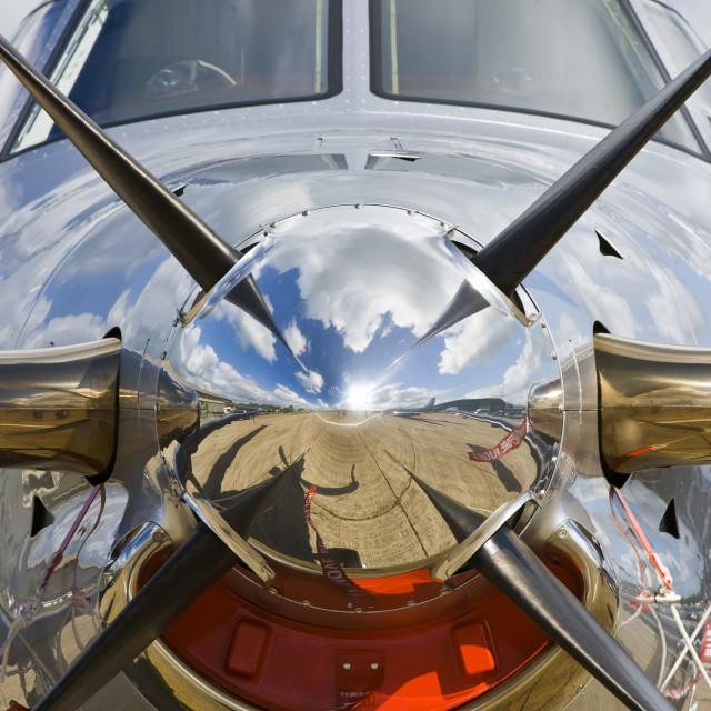 """Modern plane"" stock image"